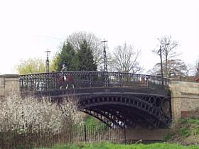 Newport Pagnell - This bridge was built in 1810 and is, I believe, the oldest cast iron bridge still carrying a full traffic load anywhere in the world. It was cast in Rotherham and transported down to Newport Pagnell by barge and road. © www.newport-pa