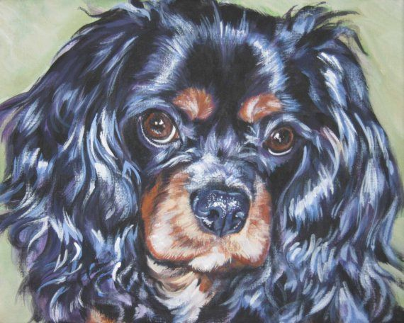 cavalier+king+charles+spaniel+art+print+CANVAS+by+TheDogLover,+$19.99  Looks like Oliver!