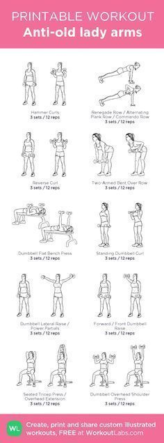 Anti-old lady arms: my visual workout created at WorkoutLabs.com • Click – #An…