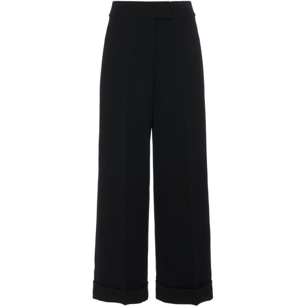 High Waisted Culottes | Moda Operandi (15,735 EGP) ❤ liked on Polyvore featuring pants, capris, loose fitting pants, loose fit pants, high-waisted pants, high waisted crop pants and cropped trousers