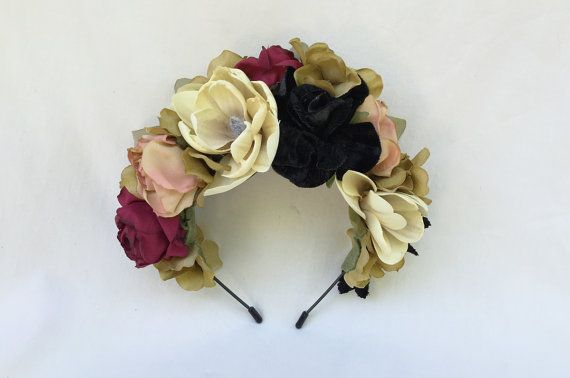 Romantische bloem Crown Blush roze Frida door BloomDesignStudio