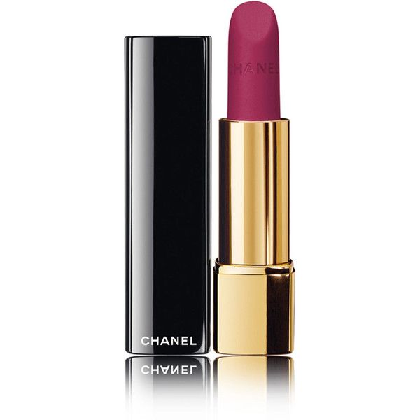 CHANEL ROUGE ALLURE VELVET - RÊVERIE PARISIENNEIntense Long-Wear Lip... ($36) ❤ liked on Polyvore featuring beauty products, makeup, lip makeup, lipstick, beauty, lips, cosmetics, matte finish lipstick, chanel lipstick en matte lipstick