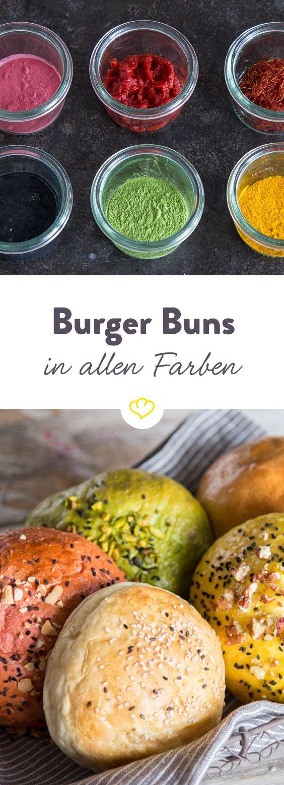 Mach dir Burger Buns in allen Farben