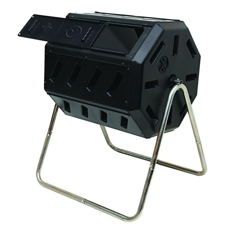 Tumbling Composter with Two Chambers for Efficient Batch Composting-IM 4000 - The Home Depot