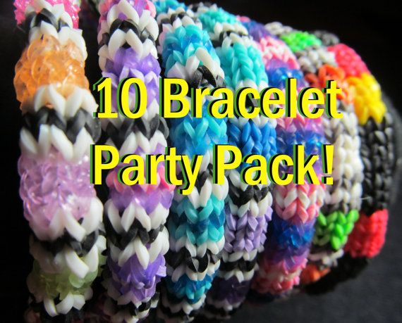 Party Pack 10 Rainbow Loom Hexafish   Check it Out!  by MrPeabodysCustomary on Etsy, $39.89