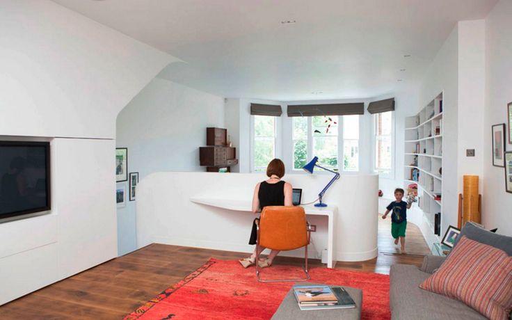 Дизайн кабинета в английском стиле в доме в Лондоне.