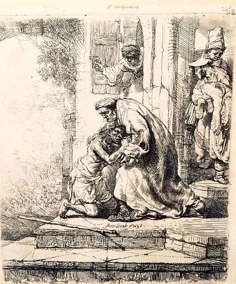 Rembrandt van Rijn, Il ritorno del Figliol Prodigo on ArtStack #rembrandt #art