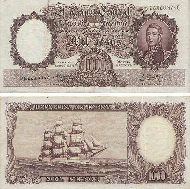 1000 pesos moneda nacional