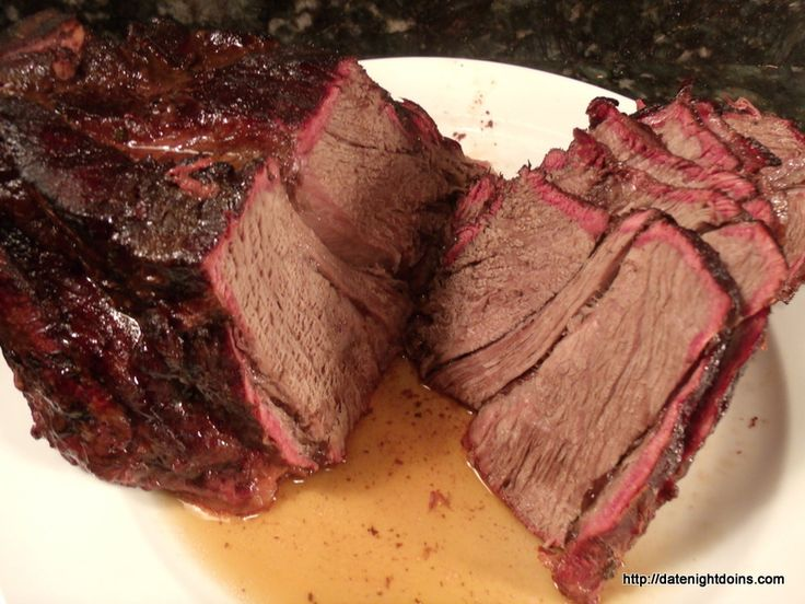 Roast Beef Slow Smoked pellet grill recipe BBQ smoker