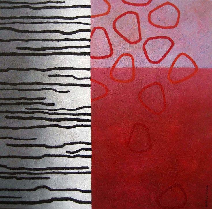 Line-tree  -acryl on canvas - 50x50 cm - Marike Meurs