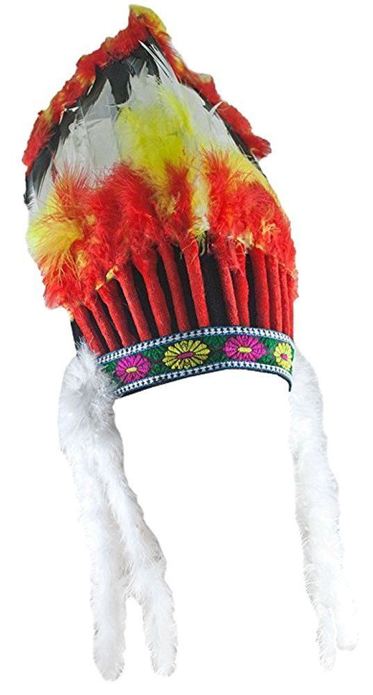 Costumes! Native American Indian Chief Feather Headress or War Bonnet Adult #FW #FeatherHeadress