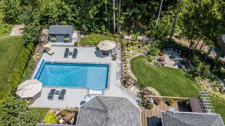 Fibreglass Pool and Landscape Design by Blue Diamond Pools and Landscaping