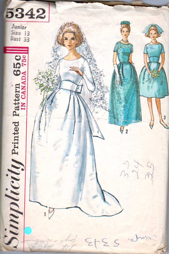 123 best Vintage wedding dress and evening gown patterns images on ...