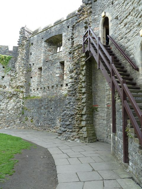 In 2011 we visited the old castle surrounding the older motte and bailey structure in Cardiff, Wales