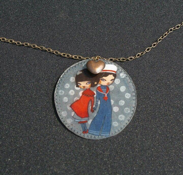 Lovely shrink plastic necklace