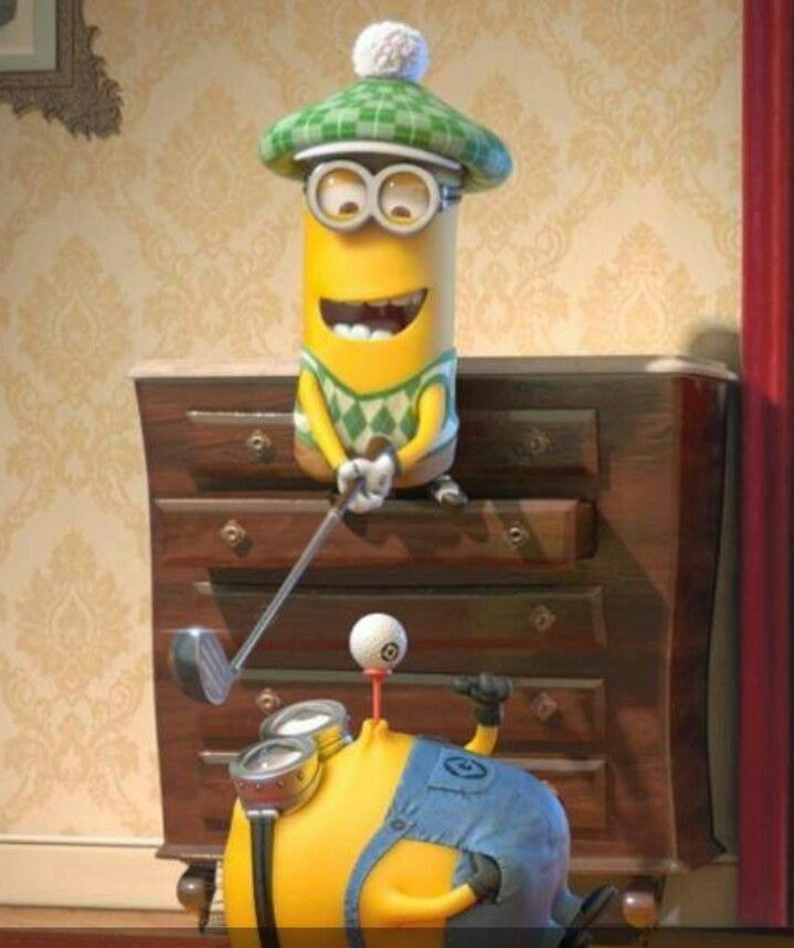 ENJOY the GAME cahillgolf.com Golf with Despicable Me 2.