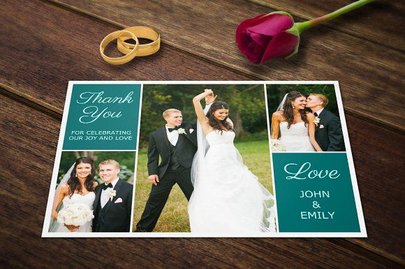 Wedding Thank You Postcards Template by Supremer Studio on @creativemarket