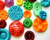 Edible Vintage Candy Buttons - 50 Fruit Tart (Yum) Flavored Candy Buttons - Colorful. $40