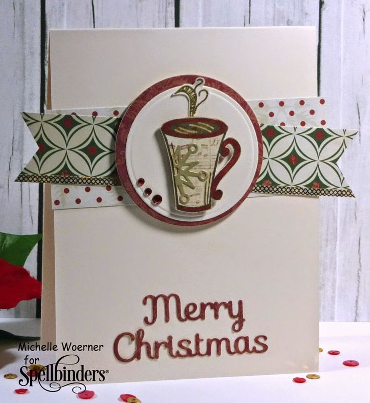 Handmade Christmas Card By Michelle Woerner Using The