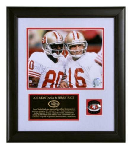 Joe Montana & Jerry Rice 49ers Framed 8x10 Photograph