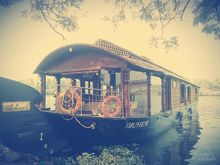 Allapuzha, boat house.