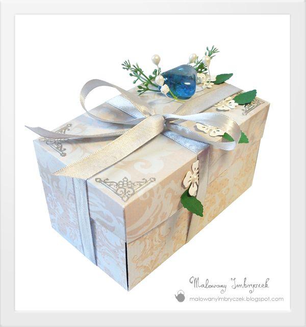 Ślubny exploading-box na bogato   #scrapbooking, #malowanyimbryczek, #explodingbox, #pudełko, #wedding, #ślub, #wesele, #flower