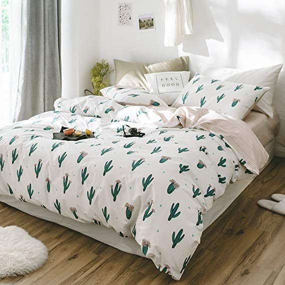 Reversible 100/% Cotton Quilt Duvet Cover Bedding Set Bed Cover and Pillow Cases