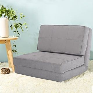 Shop for Costway Fold Down Chair Flip Out Lounger Convertible Sleeper Bed Couch Game Dorm Guest (Gray) and more for everyday discount prices at Overstock.com - Your Online Furniture Store!