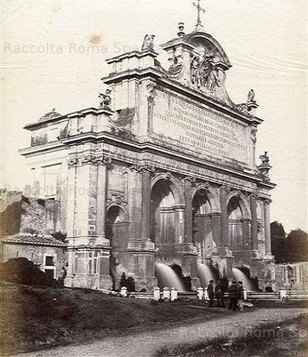 Fontanone dell'Acqua Paola Anno: 1862