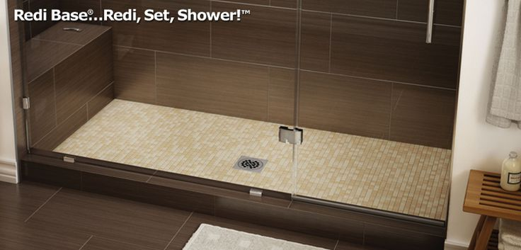 Tile Redi® offers the industry's largest selection of one-piece, Ready-to-Tile™ shower pans. Redi Base® shower pans come in over 100 standard models with a variety of shower pan sizes and drain locations. Because every bathroom shower design is different, we offer a variety of entrances as well. You can have a corner shower, double shower, peninsula shower, ADA shower, etc. Choose from:  Single Curb Double Curb Triple Curb Bathtub Replacement™ Barrier Free ADA