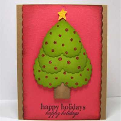 Free Christmas Crafts Dont Get More Festive Than This Handmade Card Idea Make A Tree For Friend Family Member Or Neighbor Season
