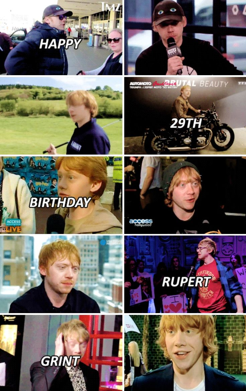 Happy 29th Birthday, Rupert Grint! (August 24, 1988)