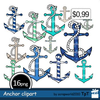 Anchor clipart Nautical includes 7 files png+jpgAnchor clipart Nautical with rope 7 files png+jpgAnchor clipart black and white 2 files png+jpgSize 1 anchor 3,5 by 4,5 inch 300 dpiFor personal and small commercial use