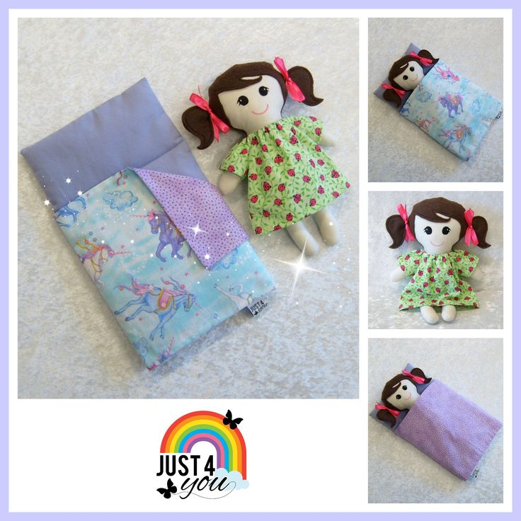 Bedtime Set : fabric doll & reversible nap bed  :) www.facebook.com/Just4YouNZ