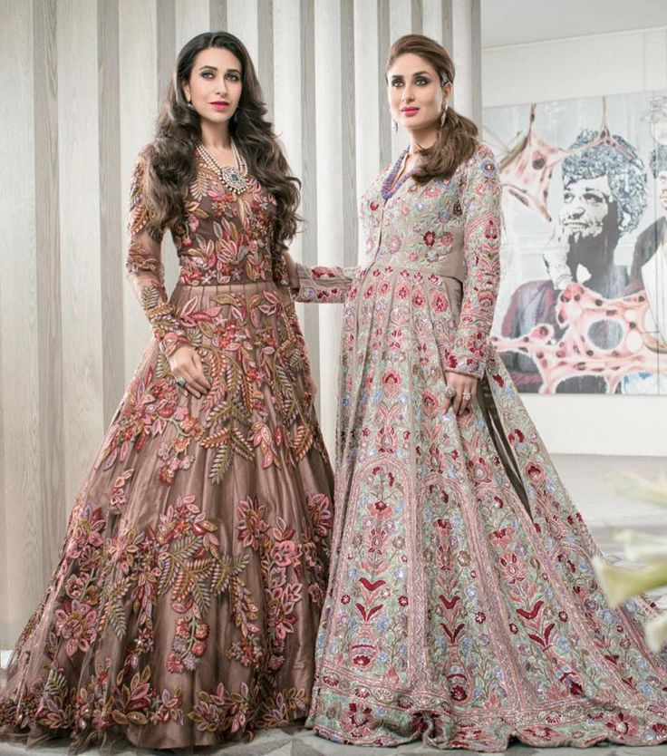 Karisma and Kareena Kapoor for Manish Malhotra #indianfashion