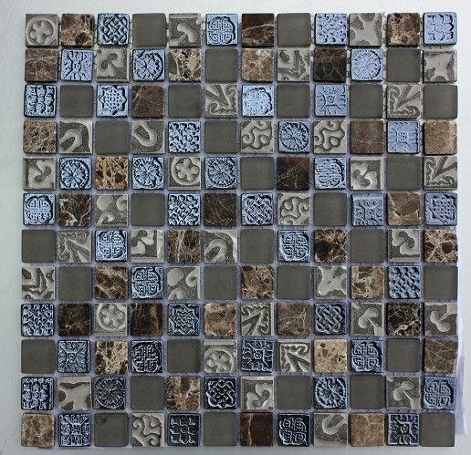 Lux-043 Dusk 25x25mm Mosaic Tile