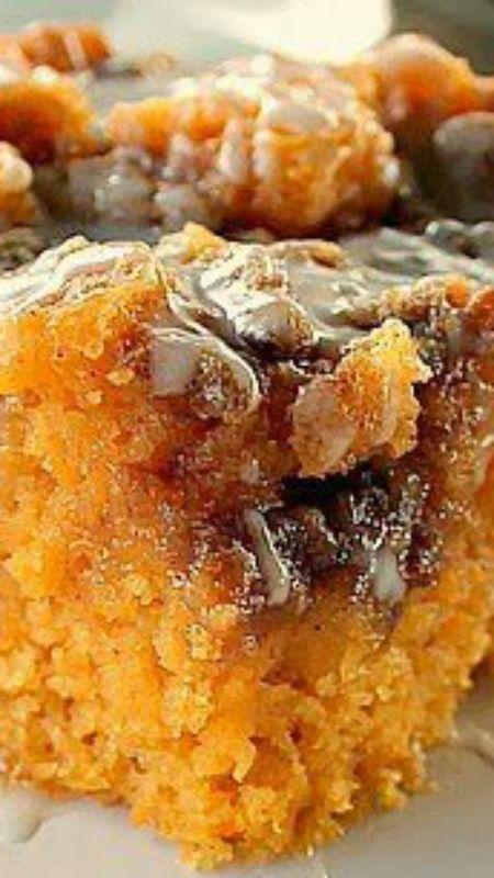 Sweet Potato Cinnamon Roll Cake Recipe