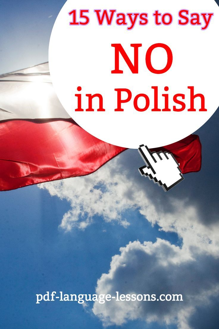 15 Ways to Say NO in Polish pdf language lessons