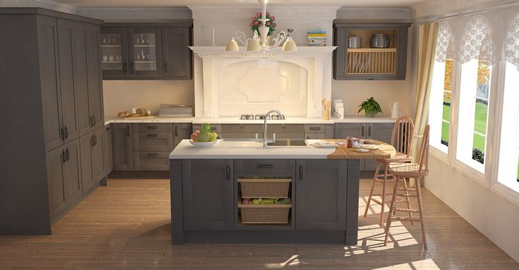 shaker graphite timber traditional kitchens kitchens