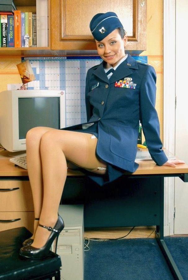 Movie pantyhose in uniform