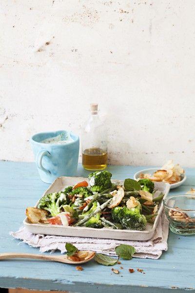 Bohnen-Brokkoli-Salat.