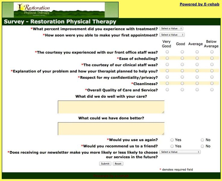 29 best Physical Therapy Newsletters - Video is the Way to Go - patient satisfaction survey template