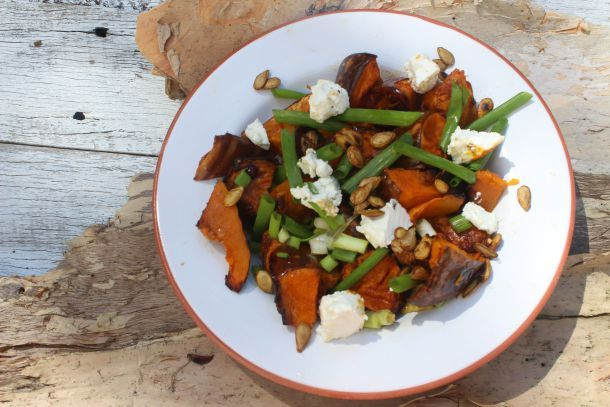 Pumpkin and Persian Feta Salad   The Quirk and the Cool