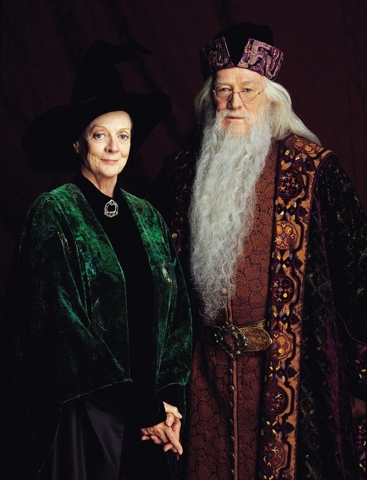 Albus Dumbledore by Richard Harris  &   Minerva McGonagall by Maggie Smith  I love her, she could read the phone book and make it interesting....
