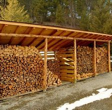Homestead Landscaping: wood storage rack.  this might be necessary