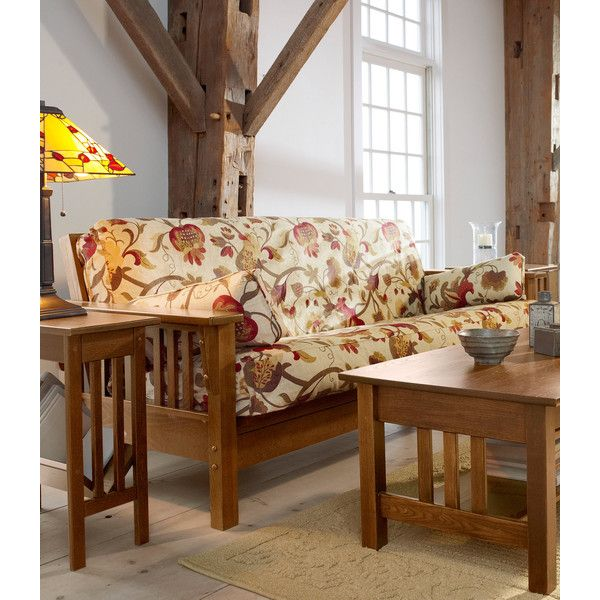 L.L.Bean Mission Futon (975 CAD) ❤ Liked On Polyvore Featuring Home,  Furniture