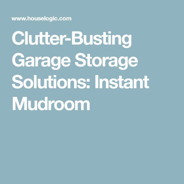 Clutter-Busting Garage Storage Solutions: Instant Mudroom