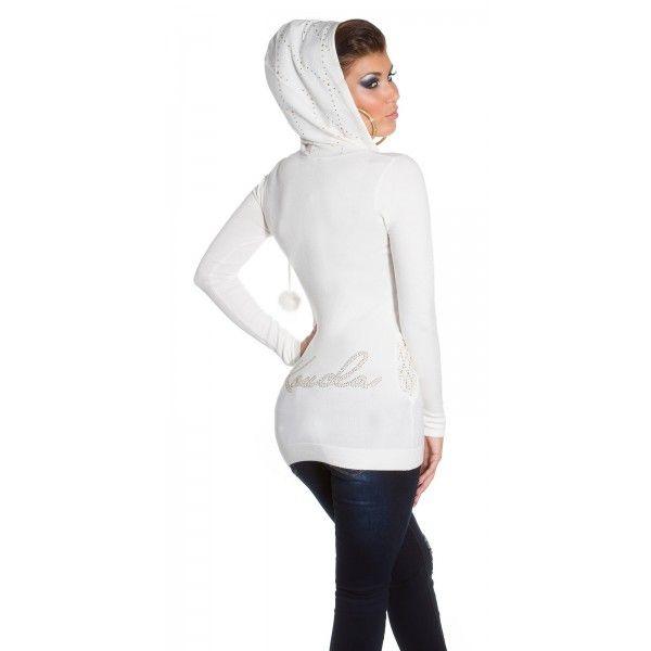 Mikina s kapucňou KouCla White