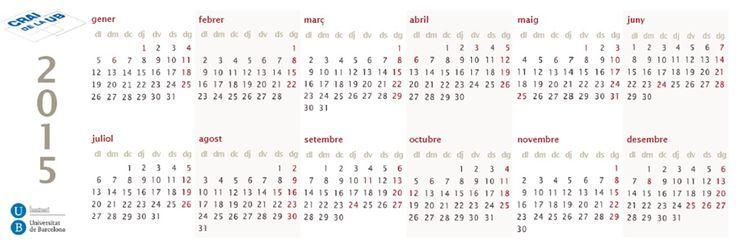 2014 Calendari 2015 Cara B
