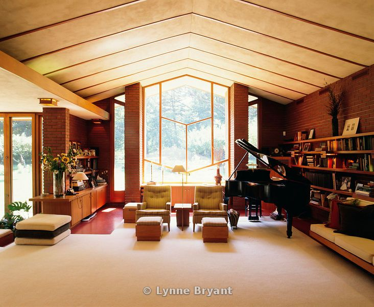 Herman T. Mossberg residence. 1948. South Bend, Indiana. Usonian Style. Frank Lloyd Wright ..peace